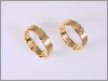 """Flaches Band""  Gold 18 ct., 1 Brillant"